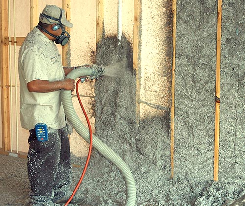Greenfiber cellulose insulation at a glance greentex for Fiberglass blowing wool insulation